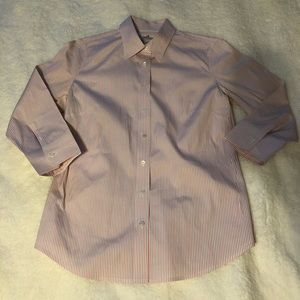 J Crew Haberdashery Refined Stretch Button Up Top